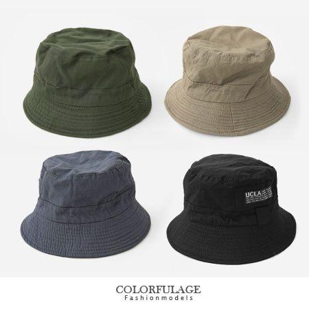 潮流素面漁夫帽 簡約貼標紳士帽 戶外遮陽帽 多色可選【NH158】戶外旅遊透氣棉料