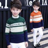 男童毛衣套頭寶寶加厚保暖男大童針織衫小孩兒童打底衫男孩冬裝潮 森雅誠品