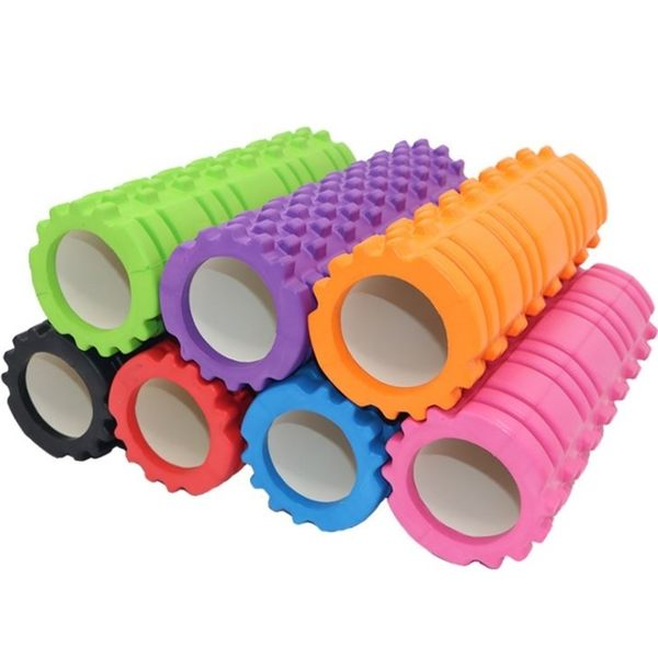 [拉拉百貨] EVA 瑜伽 滾筒 滾輪 Roller 按摩棒 狼牙棒 瑜珈柱 舒壓棒 按摩滾筒 路跑