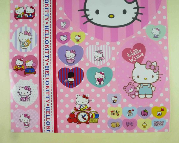 【震撼精品百貨】Hello Kitty 凱蒂貓~貼紙-粉點(熊)