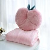 午睡枕仙人掌抱枕少女心辦公室午睡珊瑚絨毛毯子二合一兩用靠枕被子臥室 玩趣3C