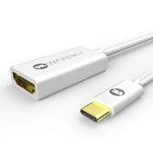 【美國代購】WARRKY USB C轉HDMI適配器 4k HDMI適配器Thunderbolt 3相容MacBook Pro 銀色