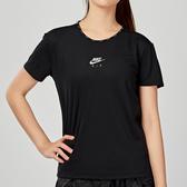 Nike AS W NK AIR TOP SS 女子 黑色 網眼 透氣 運動 短袖 CQ8869-010