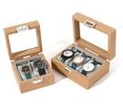 手錶收納盒 便雅花梨木紋手表盒首飾收納盒子玻璃天窗腕表收藏箱手表【快速出貨八折下殺】