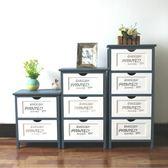 美式鄉村床頭櫃實木簡約現代臥室床邊櫃收納儲物櫃子多功能整裝