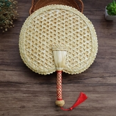 手工編織扇子老式大蒲扇夏季驅蚊芭蕉麥秸草扇 cf 全館免運