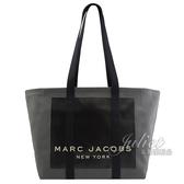 【新進品牌 獨家價】 MARC JACOBS 馬克賈伯 經典LOGO帆布肩背大托特包.深灰