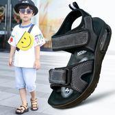 兒童涼鞋男2018新款男童鞋正韓夏季中大童沙灘鞋小童鞋 【好康八八折】