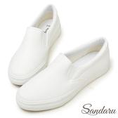 訂製鞋 素面超軟皮革休閒懶人鞋-山打努SANDARU【2388512】白色下單區