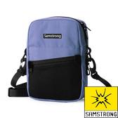【SAMSTRONG】簡約休閒側背包『藍色』露營.戶外.健行.旅遊.旅行.自助旅行.多隔間 B0404