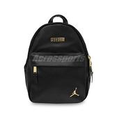 Nike 後背包 Jordan Backpack 黑 金 喬丹 皮革 小包包【ACS】 JD2133014TD-001