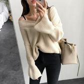 梨卡 - 秋冬氣質甜美純色寬鬆舒適針織毛衣上衣B997
