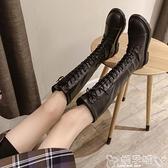 長靴 長靴女過膝小個子2021年新款秋冬百搭顯瘦騎士高筒馬丁靴中筒加絨 嬡孕哺 新品