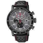 CITIZEN 星辰Chronograph 極速風潮光動能測速計時腕錶-黑X銀CA0645-15H