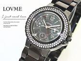 【完全計時】手錶館│LOVME蕭敬騰黑蝶貝鑽錶 多功能精密腕錶 S0118SL-33-V21 女錶/情人對錶