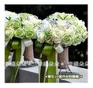 幸福朵朵*【韓式仿真新娘伴娘捧花-夏日天使綠】新娘手捧花/婚禮佈置/拍攝婚紗道具/造型裝飾
