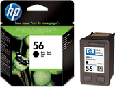 C6656AA HP 56 黑色墨水匣 適用 DJ 5160/5550/5650/5652/9600/9650/9680/Officejet 4110/4255/5510/5610/6110