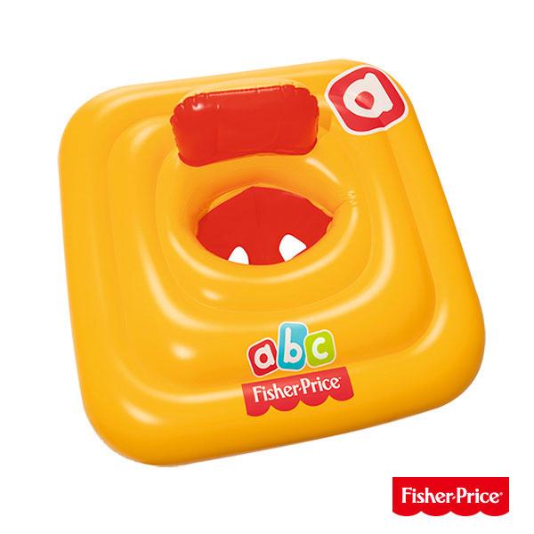 【Fisher-Price 費雪】幼兒方型坐式泳圈93519(69-25821)