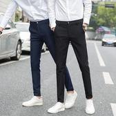 休閒褲男春季男褲修身小腳褲男士褲子韓版潮流黑色長褲男生西褲