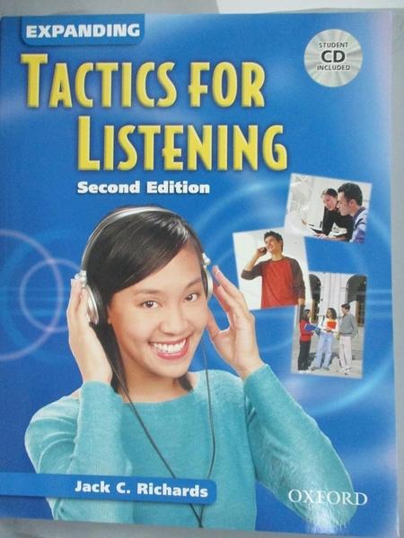 【書寶二手書T5/語言學習_IMM】Expanding Tactics for Listening_Richards, Jack C.