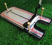 高爾夫 高爾夫室內推桿練習器 模擬球場 家用套裝軌跡姿勢糾正新手推桿鏡 草莓妞妞