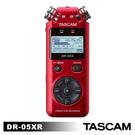 【活動】【日本 TASCAM】達斯冠 DR-05X 攜帶型數位錄音機 TASDR-05X 新版 紅色 正成公司貨