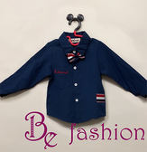帥氣深藍小襯衫 Be Fashion