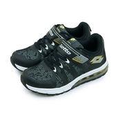 LIKA夢 LOTTO 彈力氣墊慢跑鞋 炫彩系列 黑銀 3450 大童