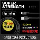GS.Shop 騰緯 鋼鐵魚絲線 1.2米 Lightning iPhone X/7/8 Plus iPad 充電線 傳輸線 快速充電