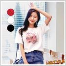 T恤 圓領個性印花短袖T恤DL10142...