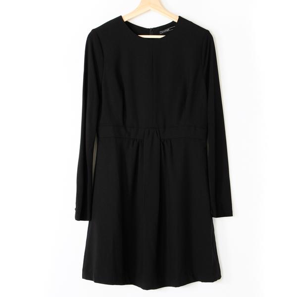 【MASTINA】長袖收腰洋裝-黑 好康優惠