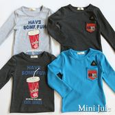 Mini Jule男童 上衣 汽水英文字母印花/數字69單口袋圓領長袖T恤(共4款)