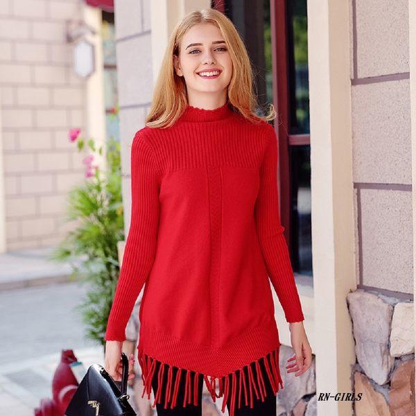 (現貨 RN-girls)-精品舒適手感流蘇下擺針織衫毛衣長袖上衣