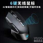 無線滑鼠 無線滑鼠可充電式靜音無聲男女生游戲辦公臺式電腦  『優尚良品』