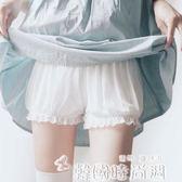 春夏蕾絲不卷邊可愛少女安全褲防走光純棉大碼打底學生保險短褲女 韓國時尚週