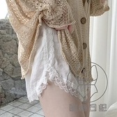安全褲女防走光薄款絲滑緞面外穿短褲蕾絲花邊寬松韓版打底褲【貼身日記】
