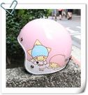 林森●kikilala 雙子星安全帽 復古帽 3/4帽 雲朵/粉