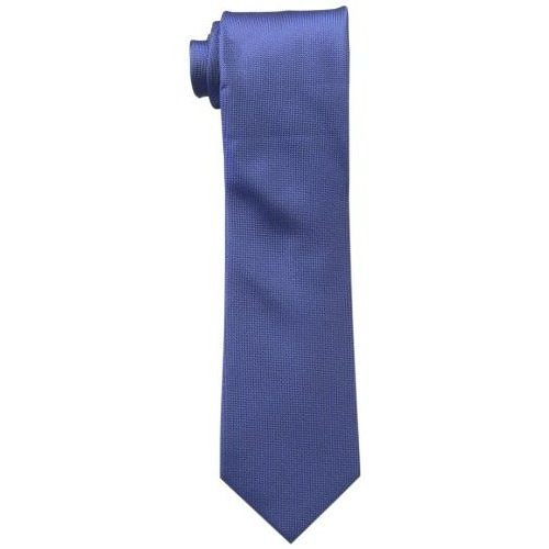 CK 男時尚Silver Spun 鈷藍色真絲領帶