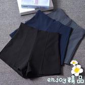 雙十一狂歡購韓版短褲女修身顯瘦高腰A字闊腿外穿打底靴褲休閒褲