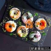 日式料理壽司甜甜圈矽膠6連12孔不規則圓形愛心梅花形狀壽司模具