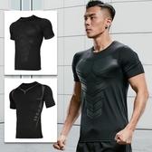 速乾衣 緊身衣男運動短袖t恤夏季籃球跑步高彈健身服長袖訓練壓縮上衣服
