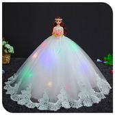 (百貨週年慶)白芭比婚紗洋娃娃超大裙90釐米單個夢幻公主套裝女孩生日禮物兒童