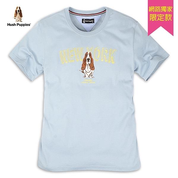 Hush Puppies T恤 男裝純棉字母立體刺繡T恤