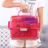 奶瓶收納箱 寶寶透明奶瓶收納箱帶蓋防塵收納盒奶粉便攜瀝水晾乾架乾燥奶瓶架XW  七夕禮物