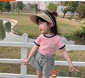 女童T恤兒童休閒短袖上衣寶寶打底衫夏裝【淘夢屋】