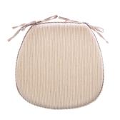 馬蹄型記憶餐椅墊-條紋米