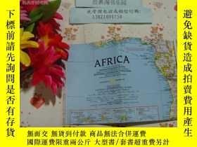 二手書博民逛書店罕見英文版旅遊圖《africa》文泉旅遊類Y-32-1,2開摺疊