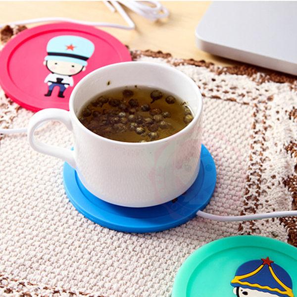 保暖小物 可愛卡通USB矽膠保溫杯墊 冬季必備 暖手寶【庫奇小舖】