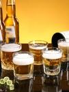酒杯 加厚鋼化玻璃杯子酒吧KTV透明防摔小啤酒杯八角杯水杯茶杯洋酒杯【快速出貨八折鉅惠】