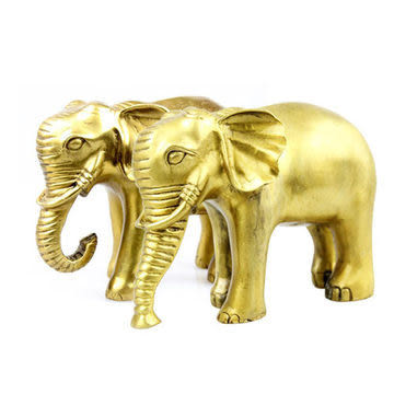 銅招財大象擺件 吉祥如意吸水銅象 聚財納福旺事業